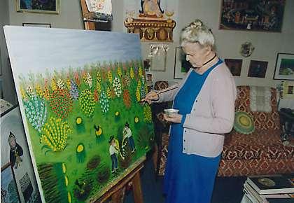 peinture de l'artiste Simone Lemoigne