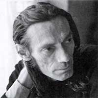 Portrait de Xavier Grall en noir et blanc