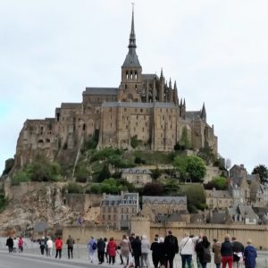 Arrivée au Mont Saint-Michel