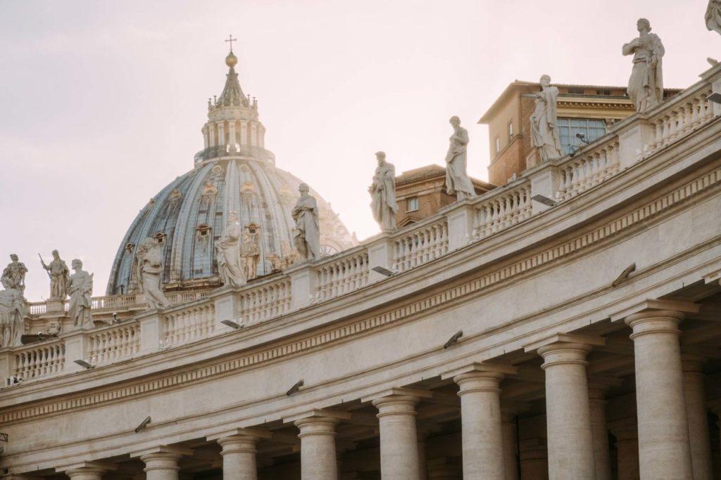 Vue sur le toit du Vatican