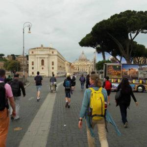 Des pèlerins à Rome