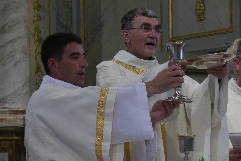 Gaëtan Lormel et Mgr Denis Moutel
