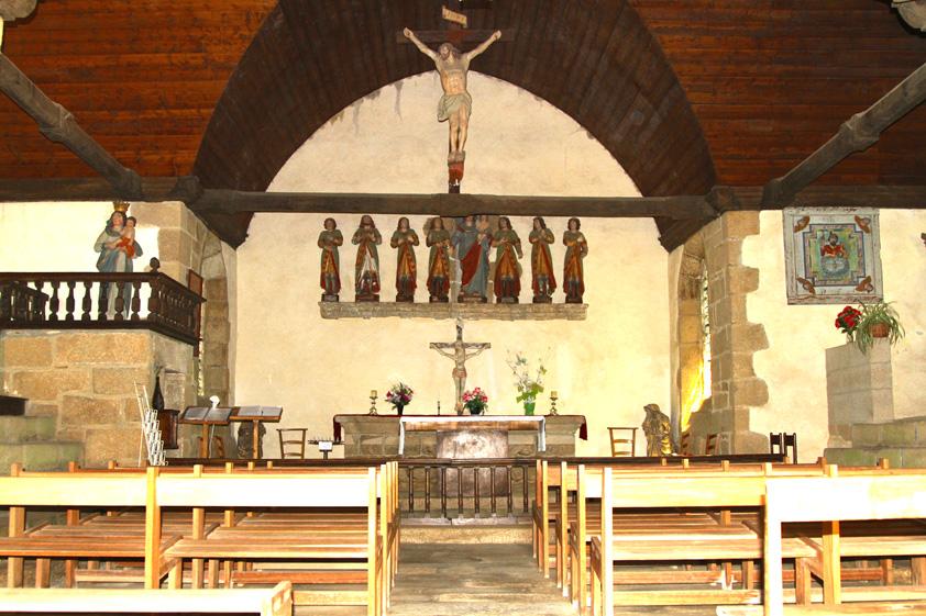 interieur de la chapelle des sept saints