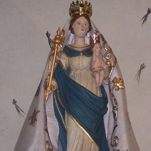 statue de la vierge marie à querrien