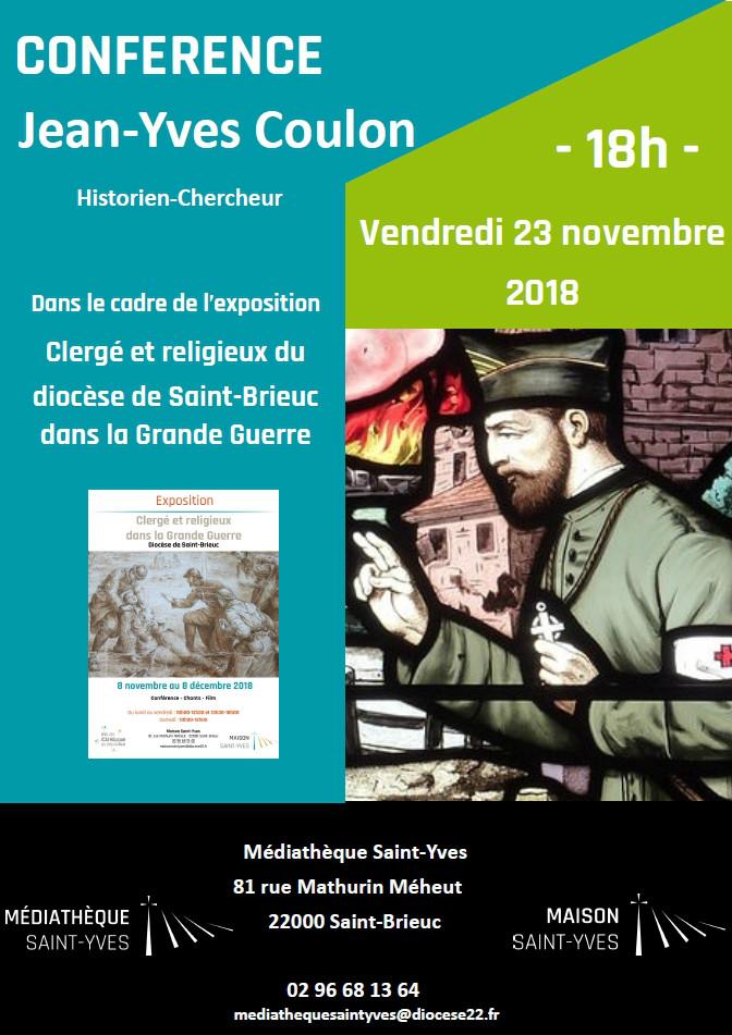 Affiche sur la conférence de Jean-Yves Coulon