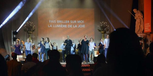Au Congrès Mission lors d'un concert