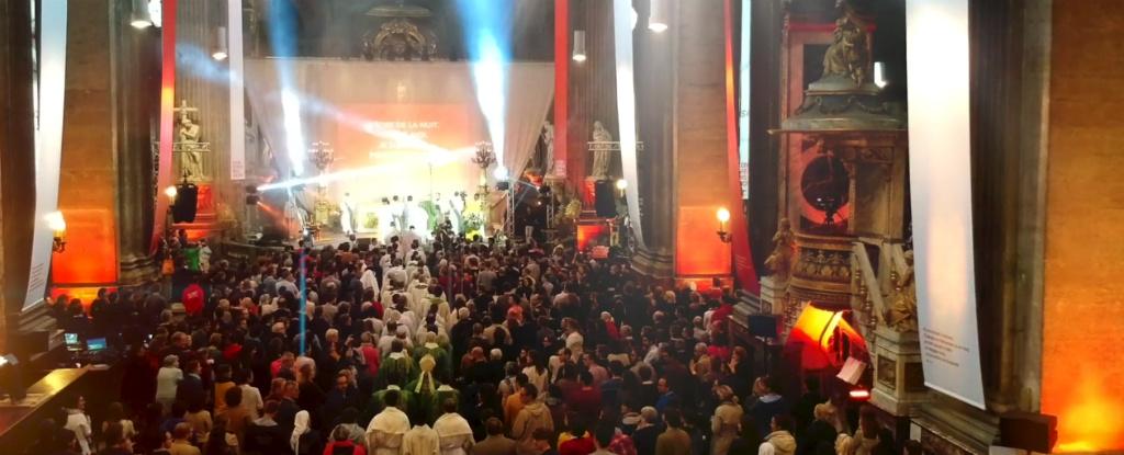 Au Congrès Mission lors d'une messe