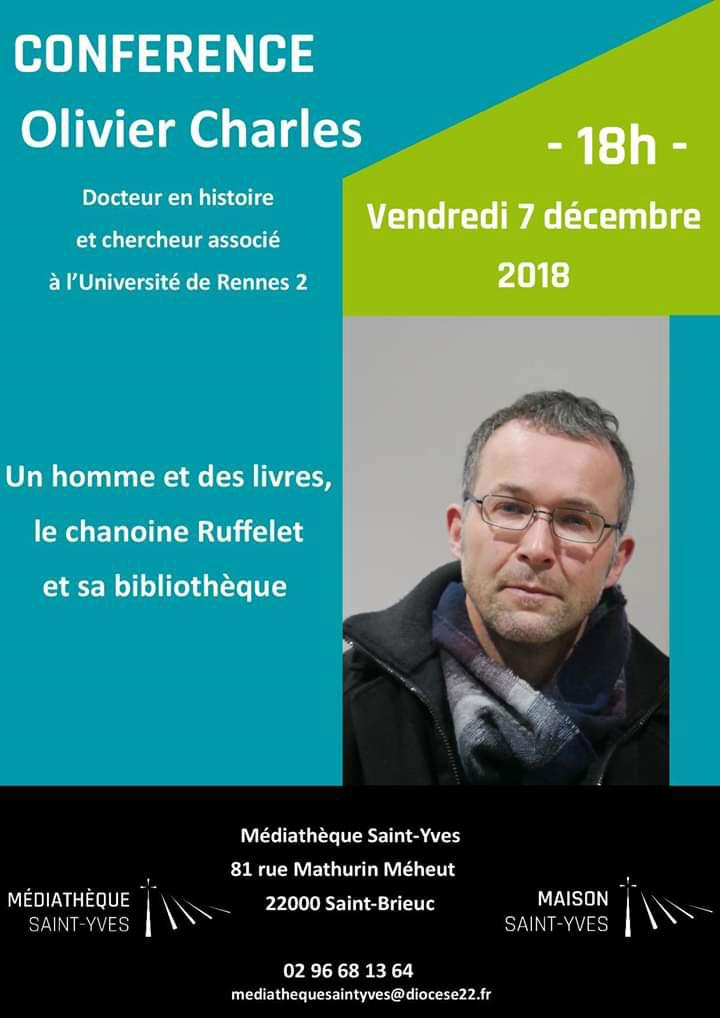 affiche de la conférence d'olivier charles