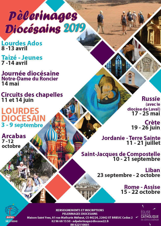 affiches pelerinages 2019