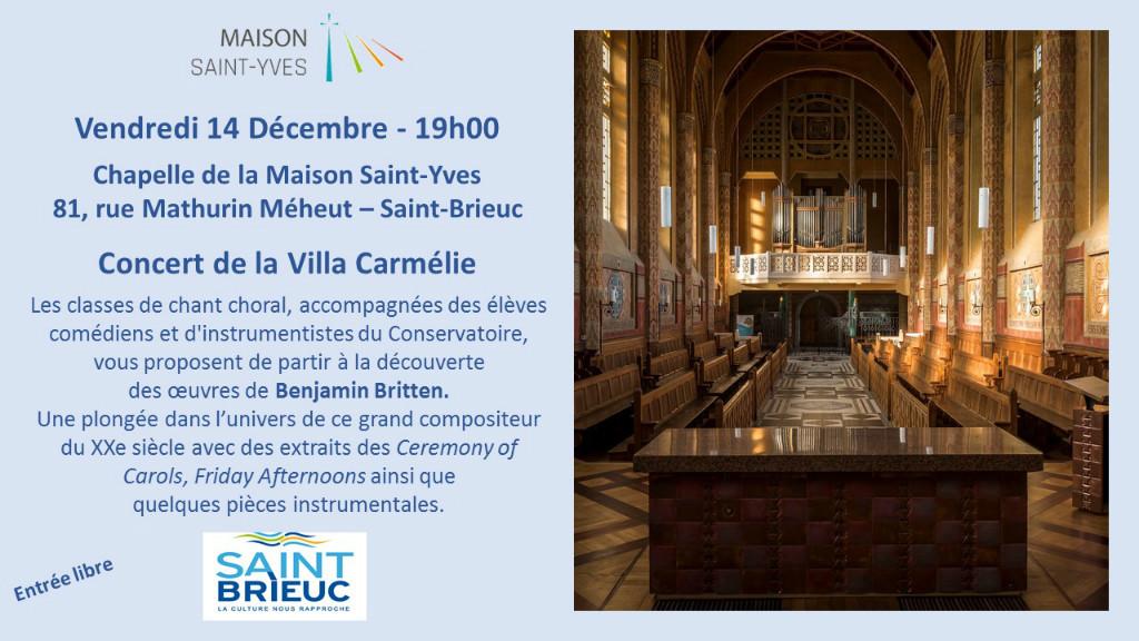 Concert de la Cilla Carmélie à la Maison Saint-Yves