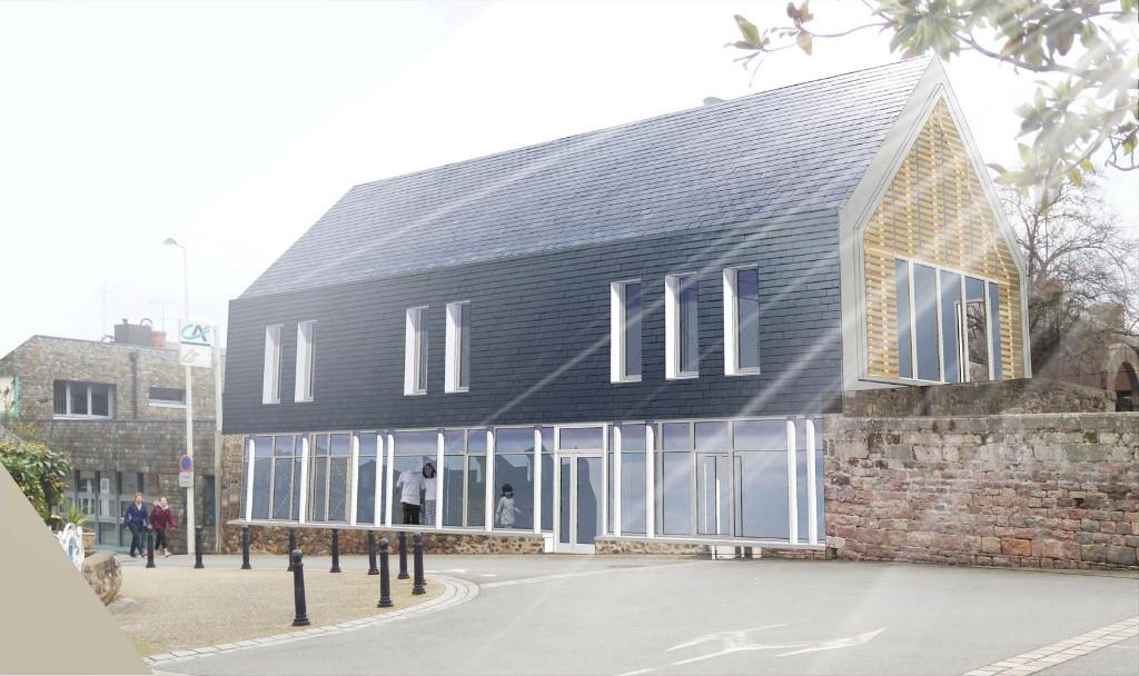 Maison paroissiale de Pléneuf après travaux
