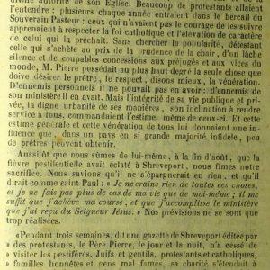 Nécrologie de l'abbé Jean Pierre