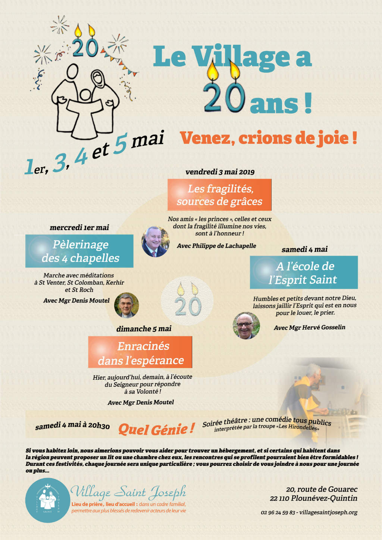 Affiche pour les 20 ans du Village Saint-Joseph