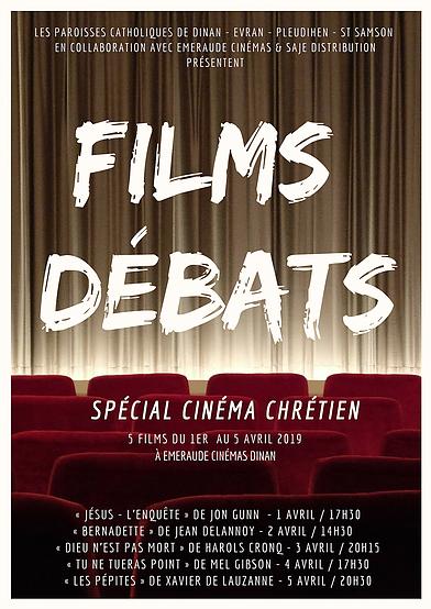 Affiche du cinéma chrétien à Dinan