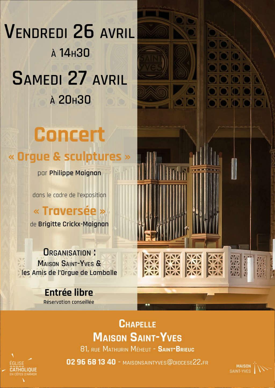 Affiche pour le concert avec Philippe Maignan