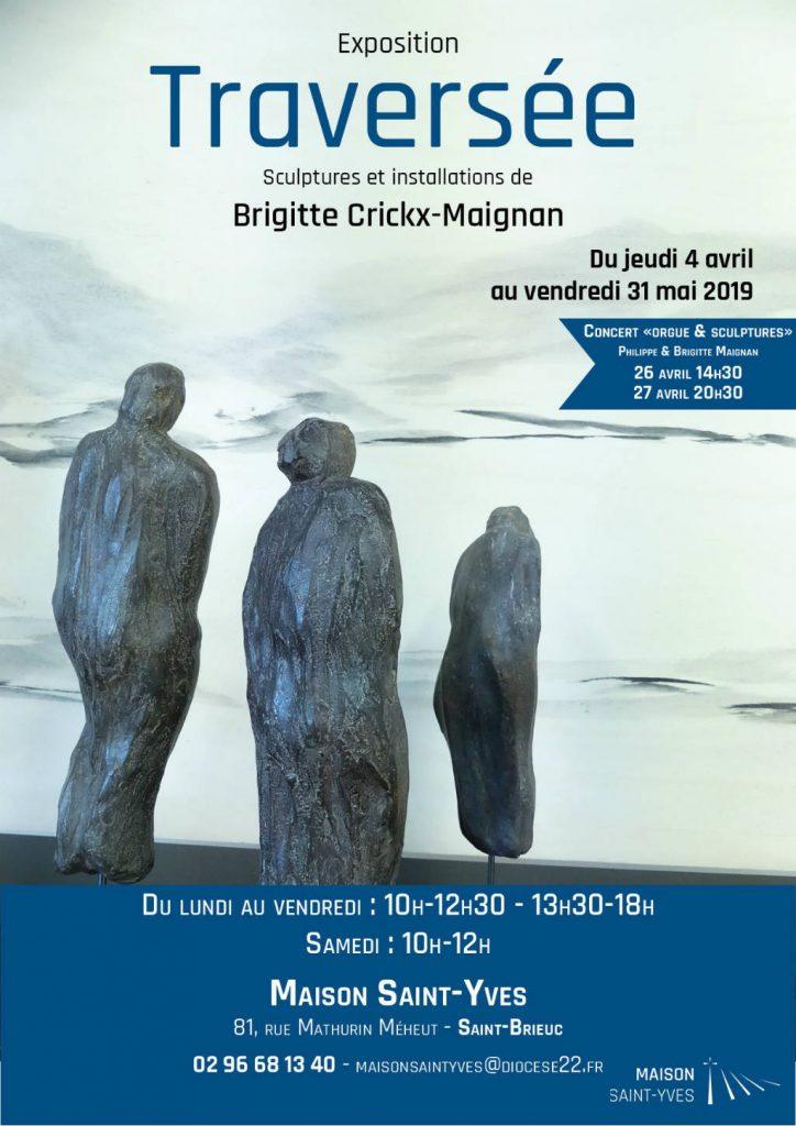 Affiche sur l'exposition de Philippe Maignan