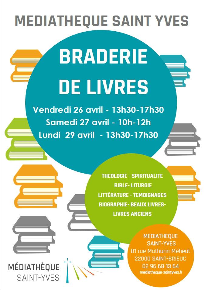 Braderie de livres à la Médiathèque Saint-Yves
