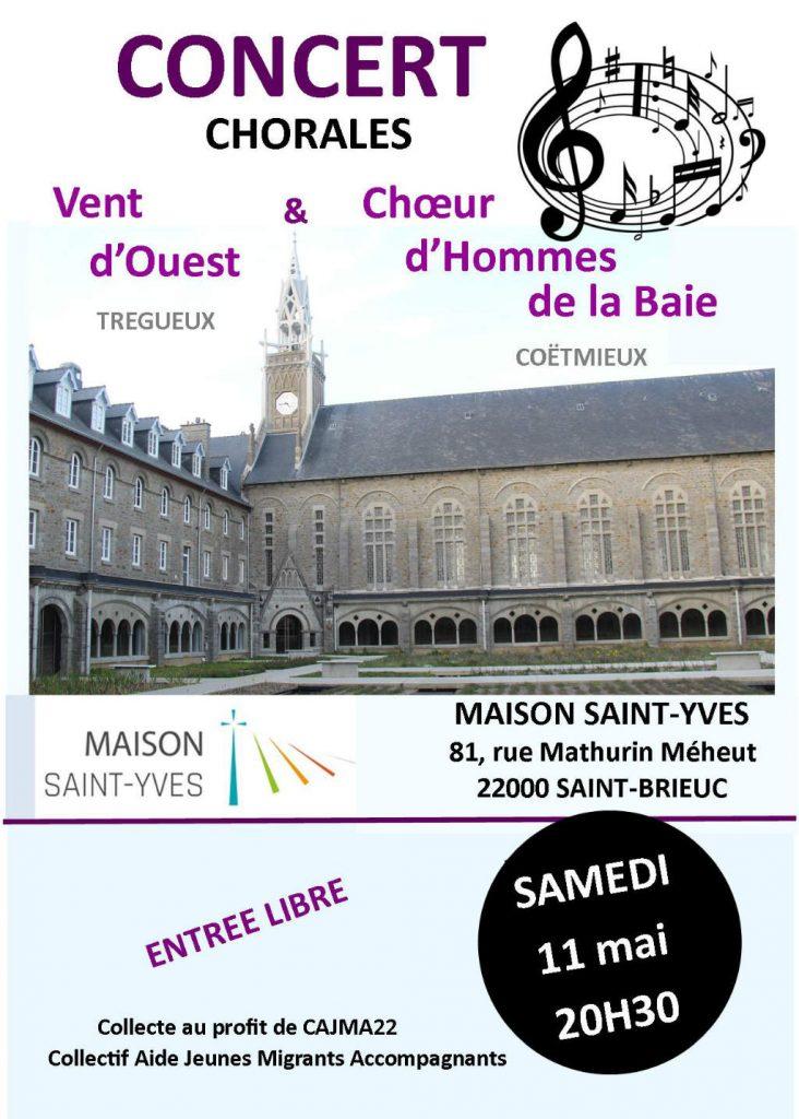 Affiche pour un concert-chorale en mai 2019 à la Maison Saint-Yves