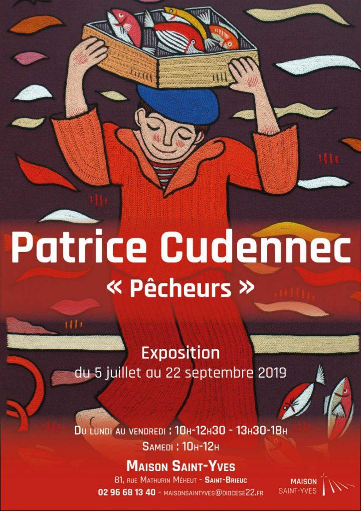 Affiche sur l'exposition de Patrice Cudennec