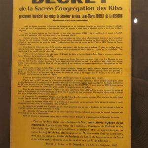 Décret de la Sacrée Congrégation des rites