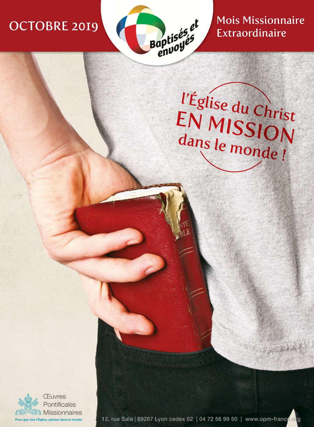 Affiche pour le mois missionnaire d'octobre 2019