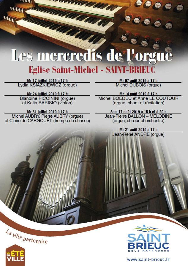 Les mercredis de l'orgue 2019