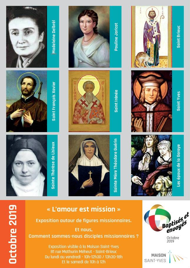 Affiche de l'exposition concernant le mois missionnaire extraordinaire