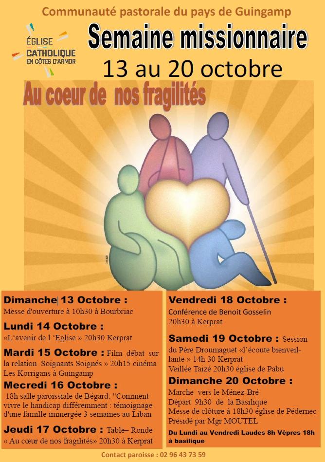 Semaine missionnaire organisée par le Pays de Guingamp