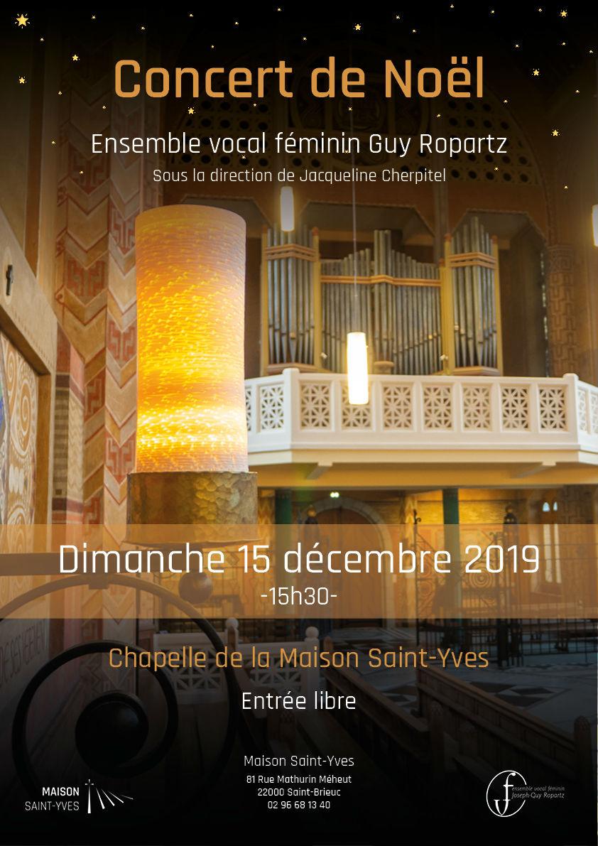 Affiche du concert de Noël à la Maison Saint-Yves