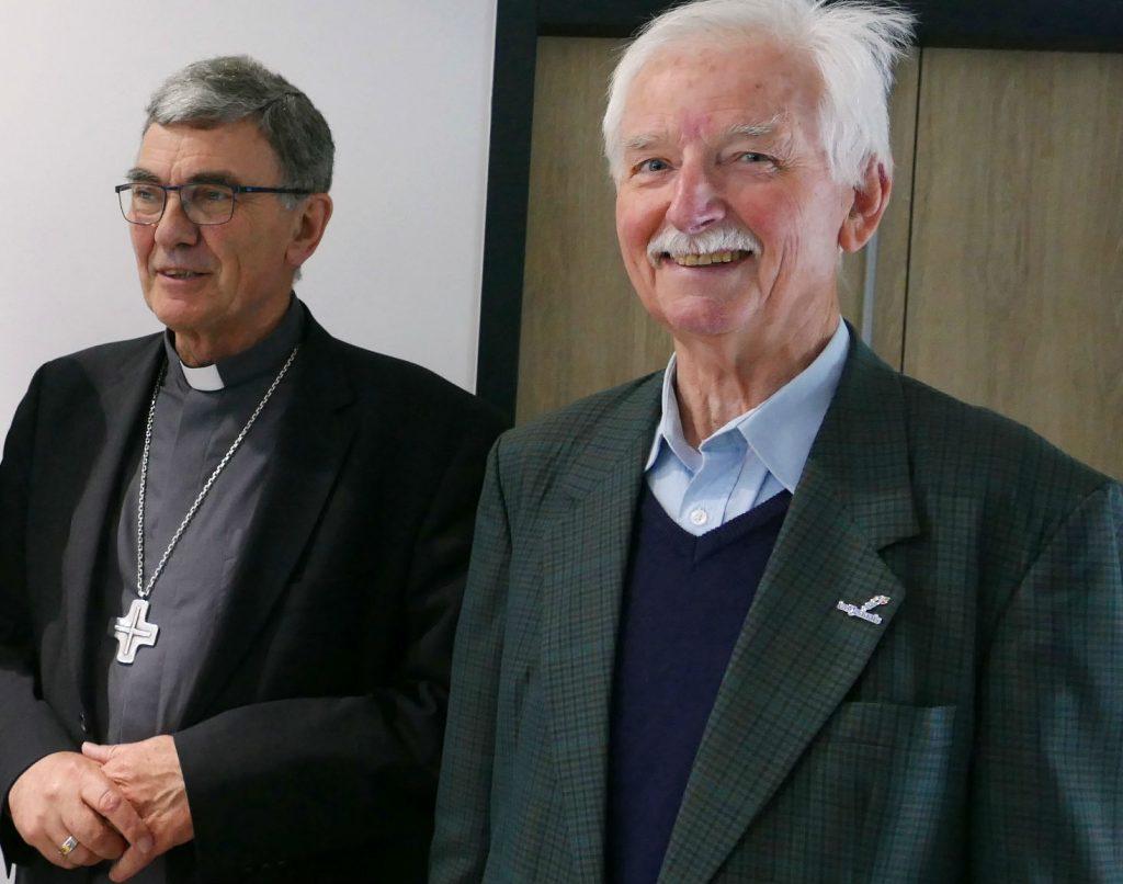Mgr Moutel et Frère Bob Léaustic @FIC