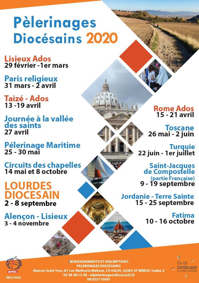 Affiche pèlerinages 2020