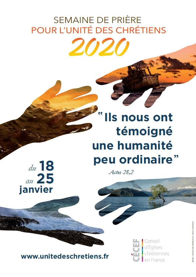 Semaine de prière 2020 pour l'unité des chrétiens
