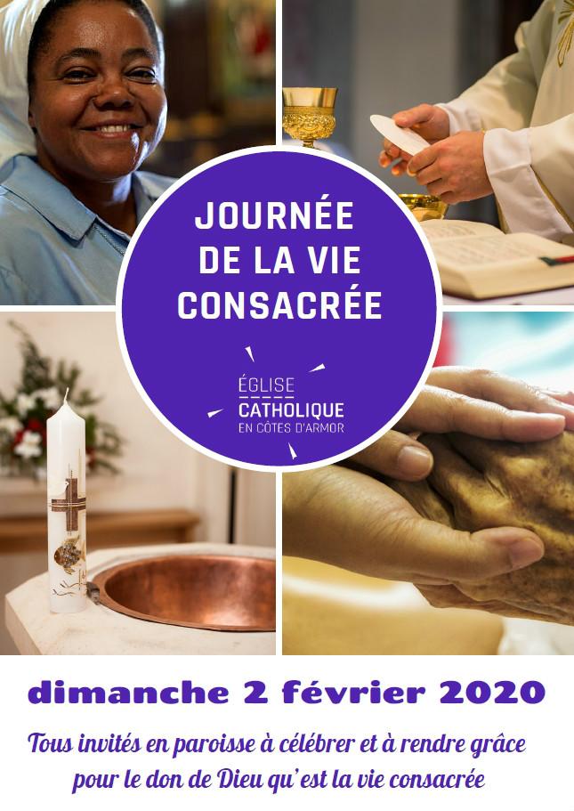 Affiche 2020 pour la journée mondiale de la vie consacrée