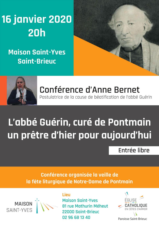Affiche sur la conférence autour de l'abbé Guérin