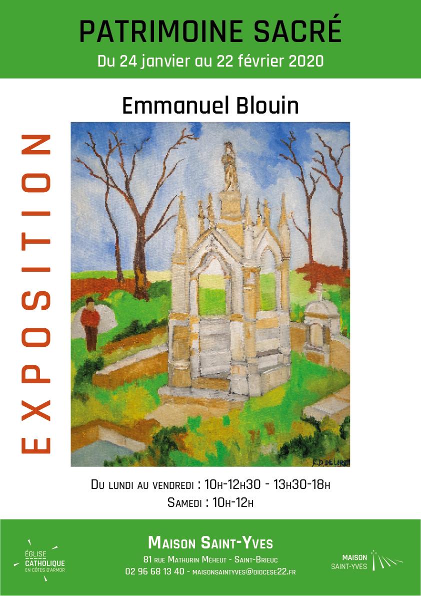 Affiche de l'exposition d'Emmanuel Blouin