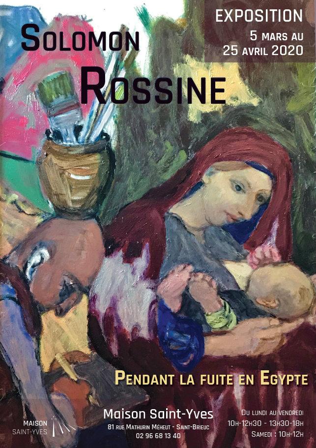 Affiche de l'exposition de Solomon Rossine