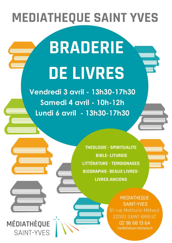 Braderie de livres de la médiathèque Saint-Yves 2020