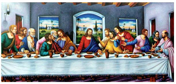 Jésus à table avec ses disciples