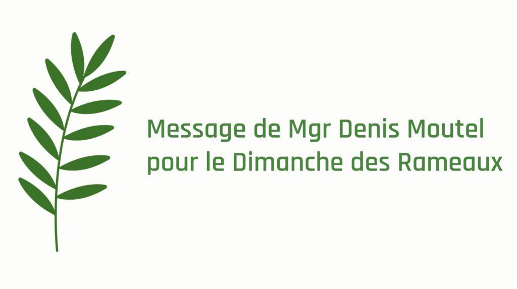 Message 2020 de Mgr Denis Moutel pour le Dimanche des Rameaux