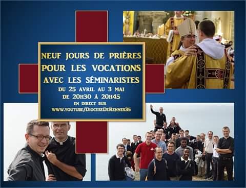 Neuvaine pour les vocations 2020 avec le séminaire Saint-Yves de Rennes