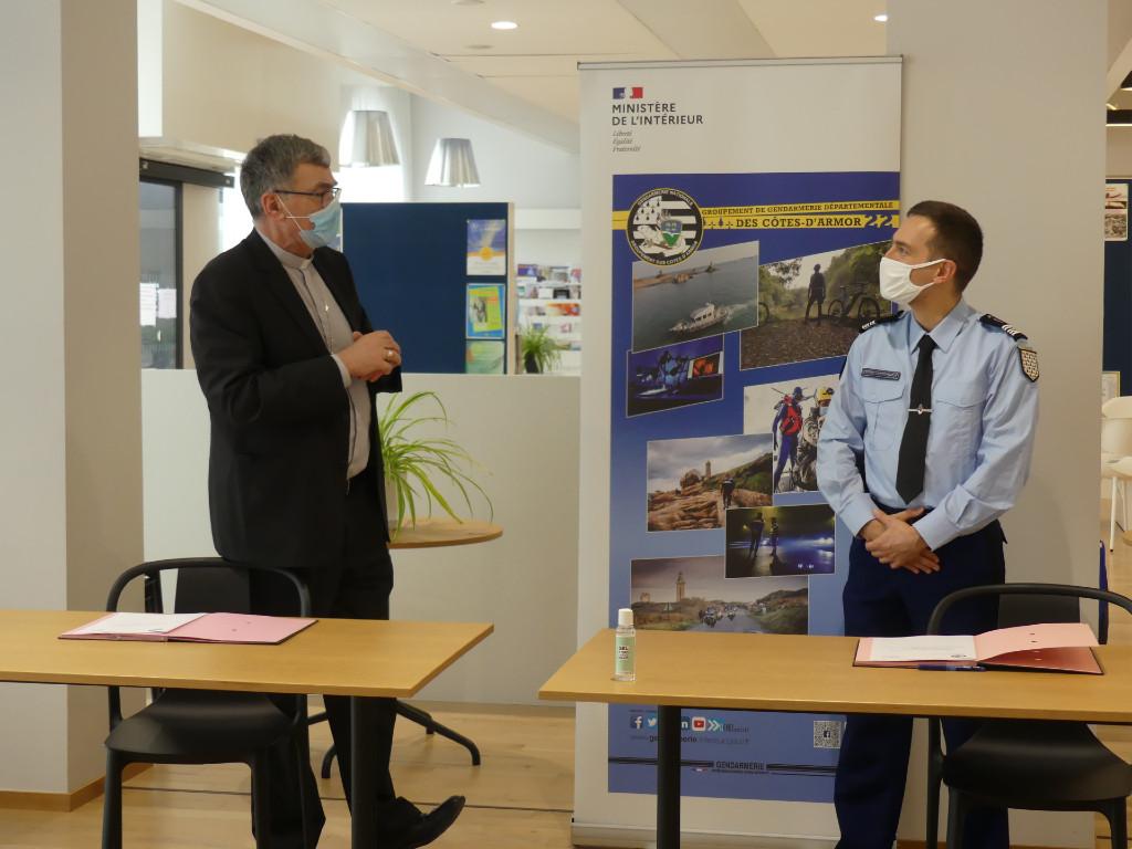 Convention de coopération entre le Diocèse et la Gendarmerie