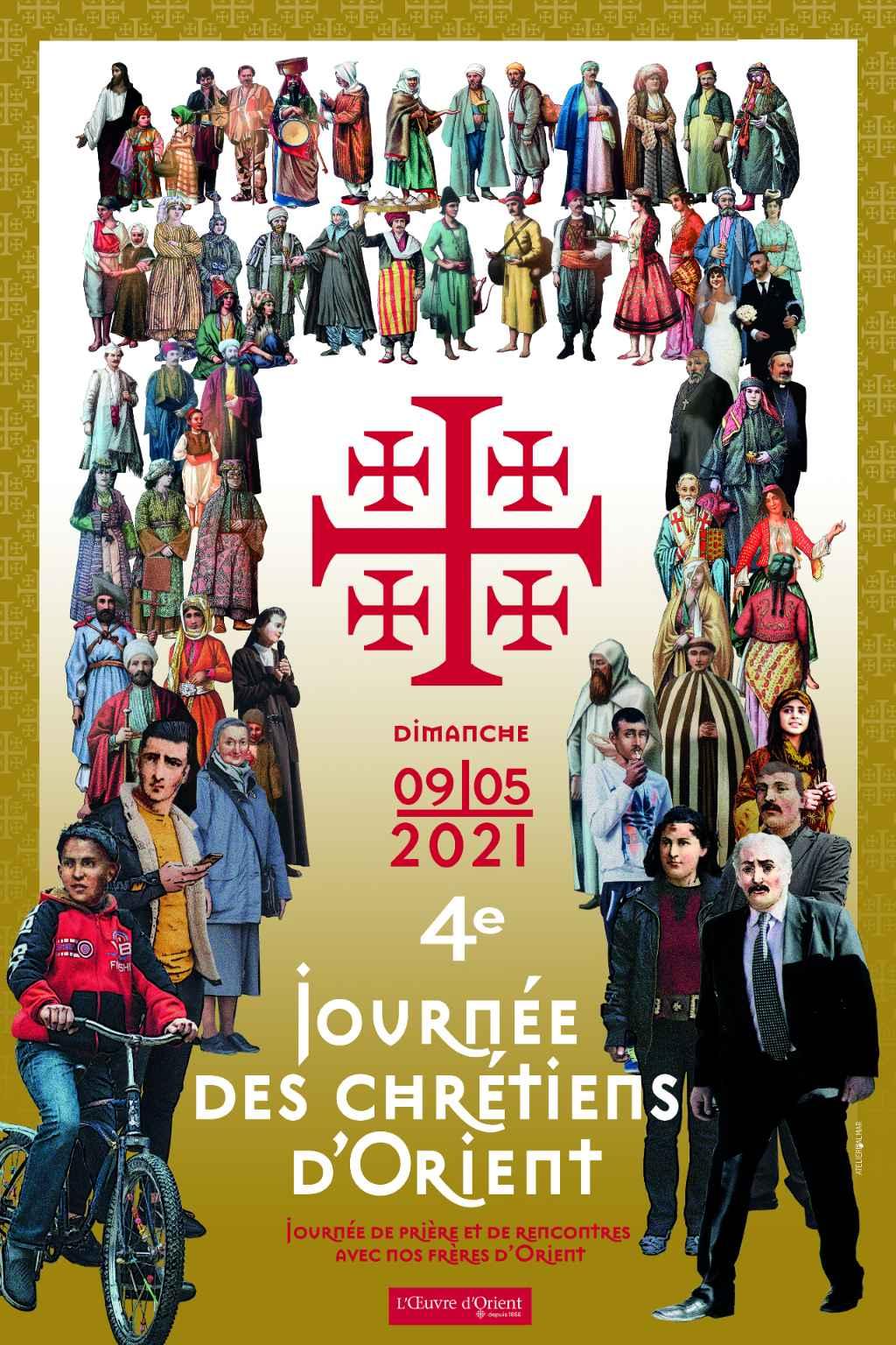 Affiche de la Journée des chrétiens d'Orient 2021