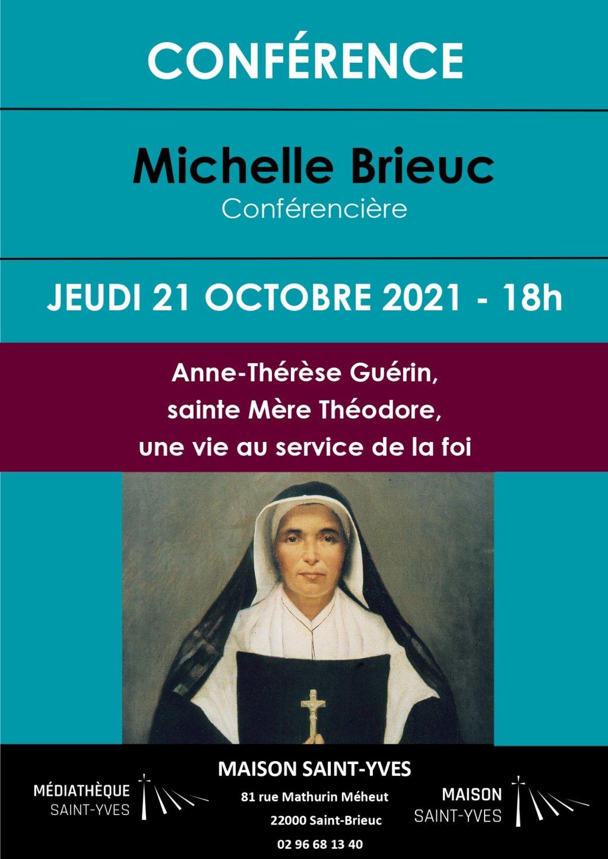 Affiche sur la conférence de Michelle Brieuc