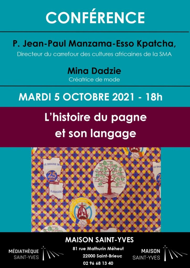 Affiche de la conférence autour des pagnes