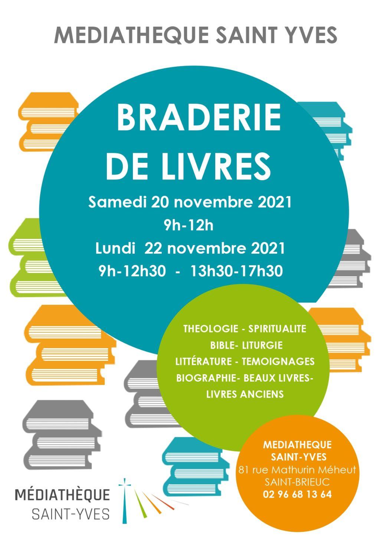 Braderie de livres 2021 à la Médiathèque Saint-Yves